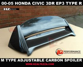 00-05 Honda Civic EP3 M Type Carbon Fiber Roof Spoiler
