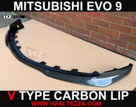 V TYPE CARBON FIBER FRONT LIP FOR MITSUBISHI EVO 9