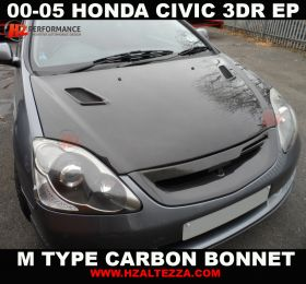 00-05 Honda Civic EP3 Carbon Fiber M Bonnet
