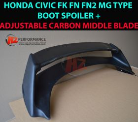 06-11 Honda Civic FN2 MG HALF CARBON Boot Spoiler