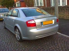 01-04 Audi A4 B6 4DR Saloon A Type Boot Spoiler